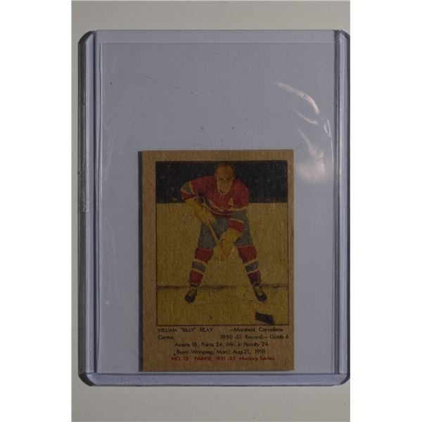 1951-52 Parkhurst #13 Billy Reay ROOKIE