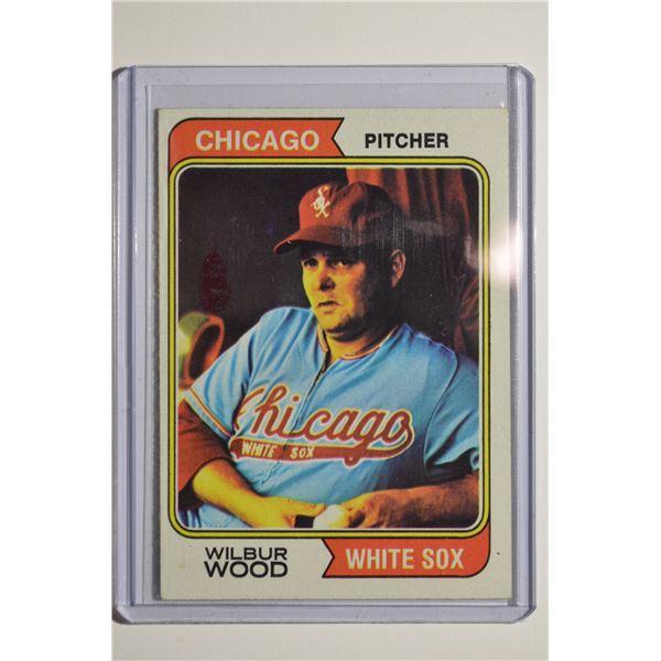 1974 Topps ERROR CARD Wilbur Wood #120