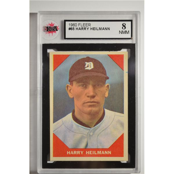 1960 Fleer #65 Harry Heilmann