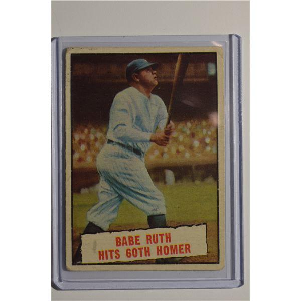 1961 Topps #401 Babe Ruth 60th HR