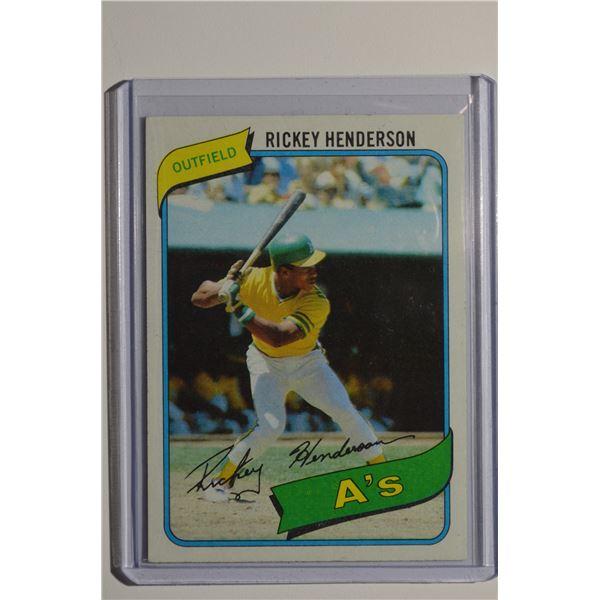 1980 Topps #482 Rickey Henderson ROOKIE/UER