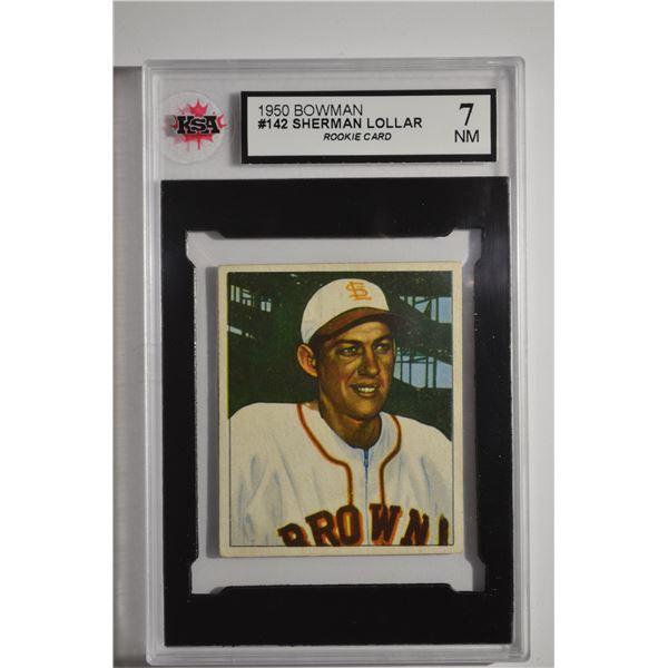 1950 Bowman #142 Sherman Lollar ROOKIE
