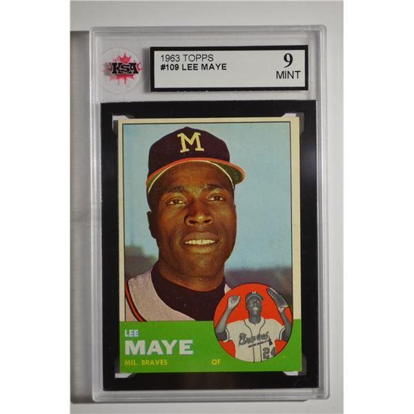 1963 Topps #109 Lee Maye