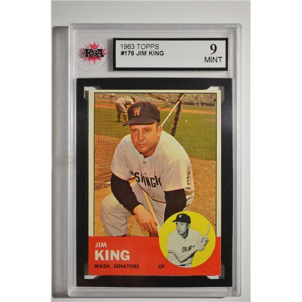 1963 Topps #176 Jim King