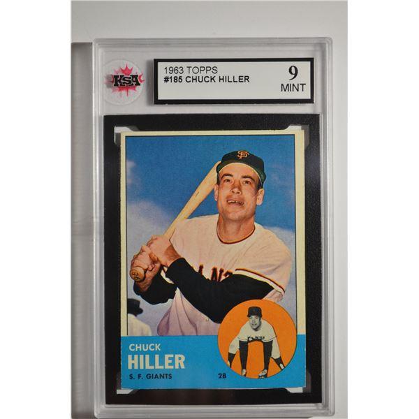 1963 Topps #185 Chuck Hiller