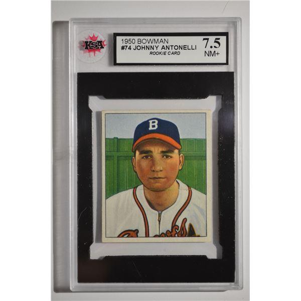 1950 Bowman #74 Johnny Antonelli ROOKIE