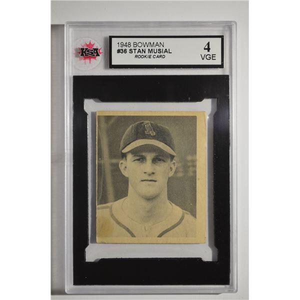 1948 Bowman #36 Stan Musial ROOKIE