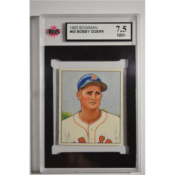 1950 Bowman #43 Bobby Doerr
