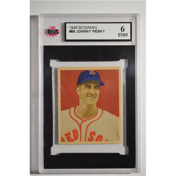 1949 Bowman #86 Johnny Pesky ROOKIE