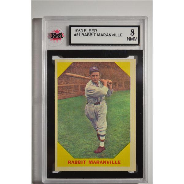 1960 Fleer #21 Rabbit Maranville DP