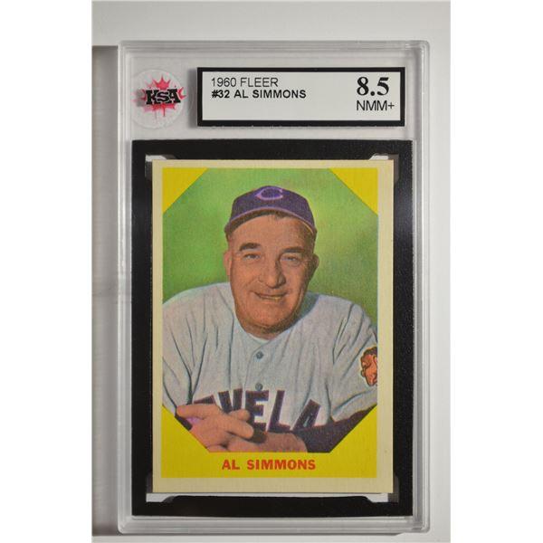 1960 Fleer #32 Al Simmons