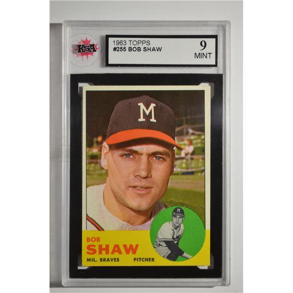 1963 Topps #255 Bob Shaw