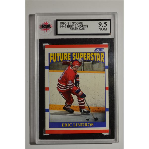 1990-91 Score #440 Eric Lindros ROOKIE