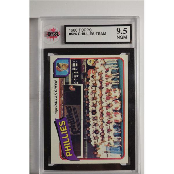 1980 Topps #526 Philadelphia Phillies CL/Dallas Green MG