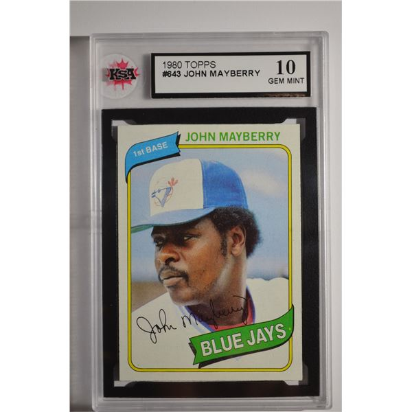 1980 Topps #643 John Mayberry