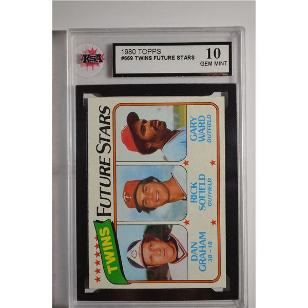 1980 Topps #669 Dan Graham ROOKIE/Rick Sofield/Gary Ward ROOKIE