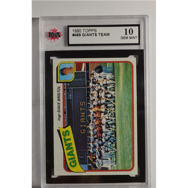 1980 Topps #499 San Francisco Giants CL/Dave Bristol MG
