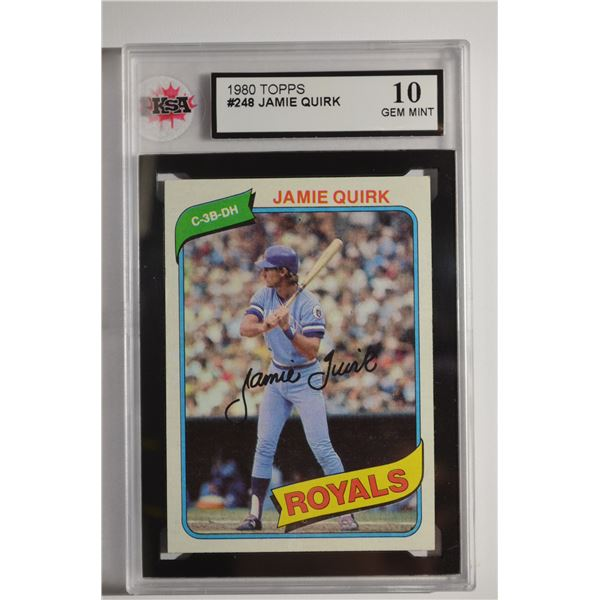 1980 Topps #248 Jamie Quirk