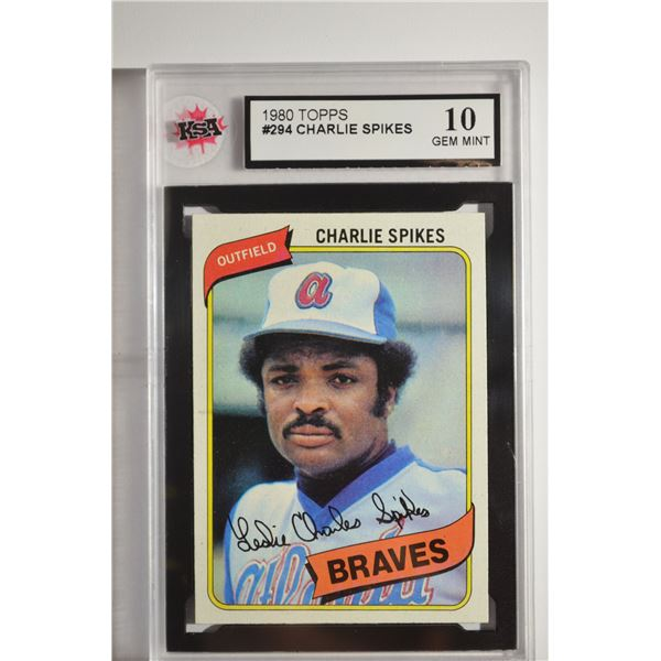 1980 Topps #294 Charlie Spikes
