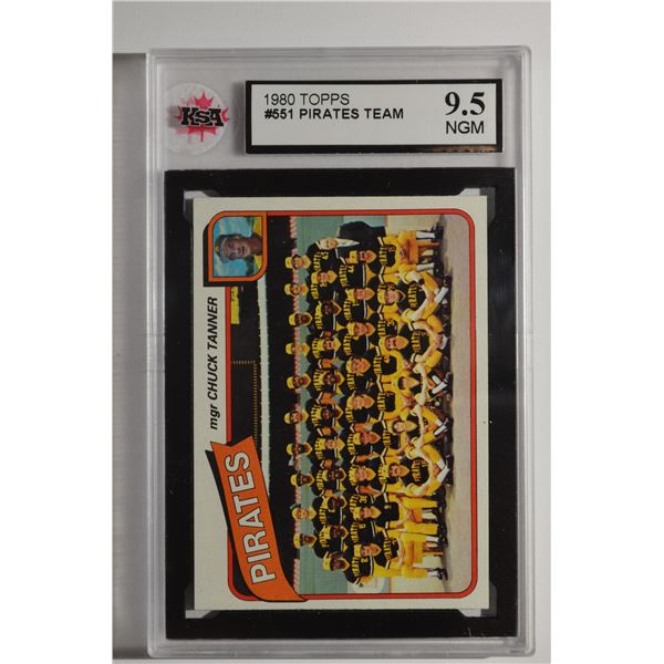 1980 Topps #551 Pittsburgh Pirates CL/Chuck Tanner MG