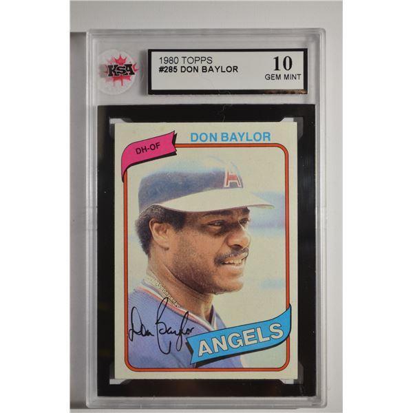 1980 Topps #285 Don Baylor