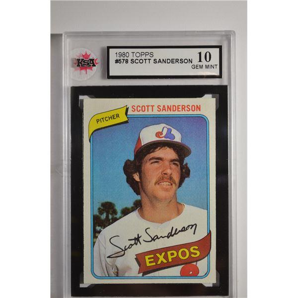 1980 Topps #578 Scott Sanderson
