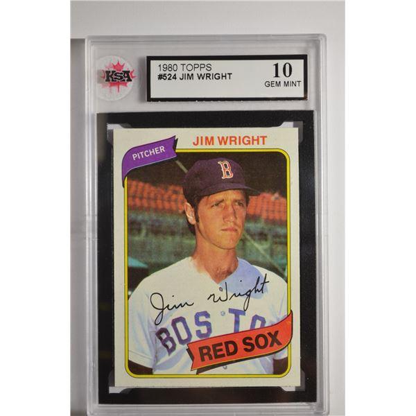 1980 Topps #524 Jim Wright DP
