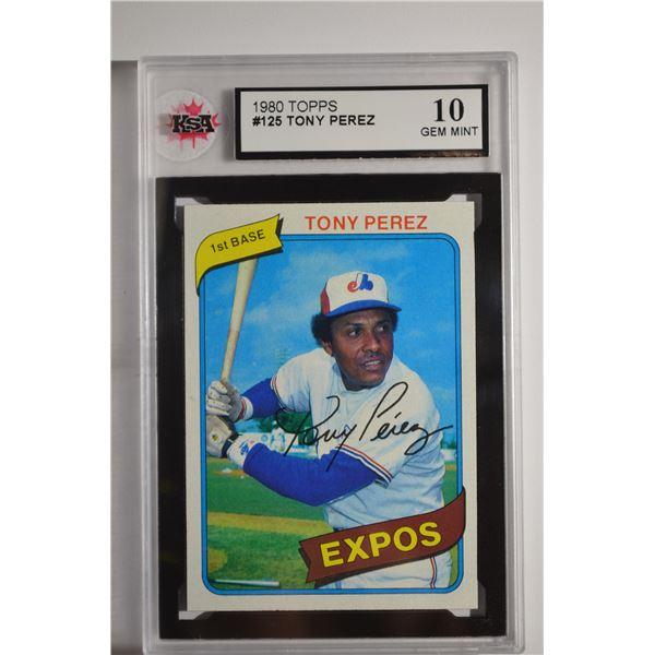 1980 Topps #125 Tony Perez