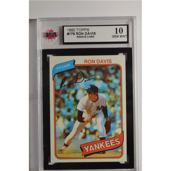 1980 Topps #179 Ron Davis ROOKIE