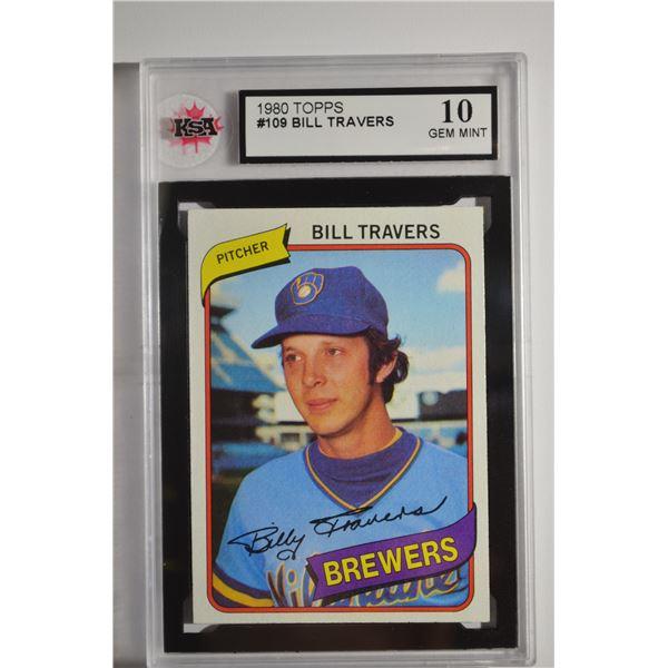 1980 Topps #109 Bill Travers
