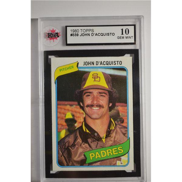 1980 Topps #339 John D'Acquisto
