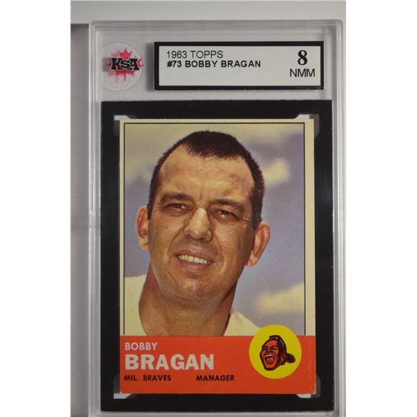 1963 Topps #73 Bobby Bragan MG ROOKIE