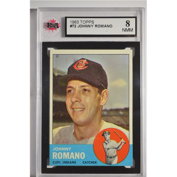 1963 Topps #72 Johnny Romano