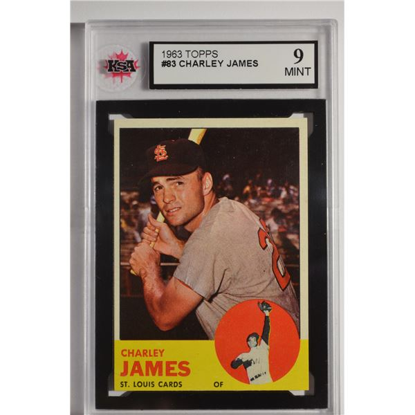 1963 Topps #83 Charley James