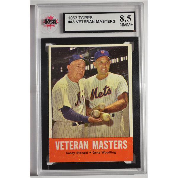 1963 Topps #43 Veteran Masters/Casey Stengel/Gene Woodling