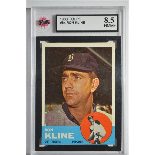 1963 Topps #84 Ron Kline