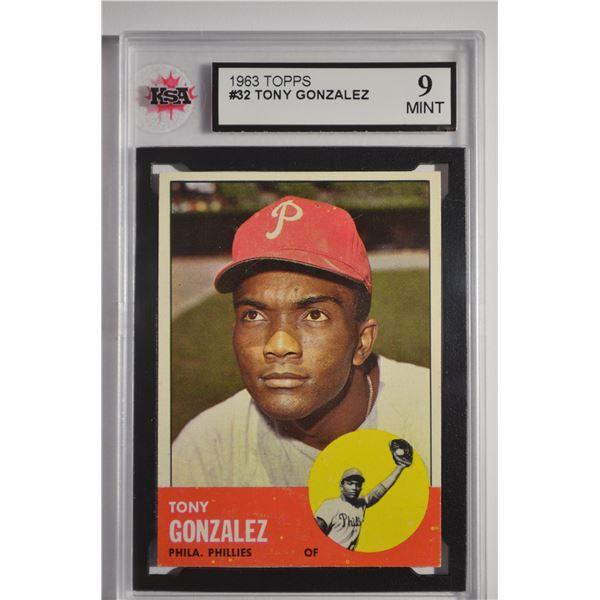 1963 Topps #32 Tony Gonzalez