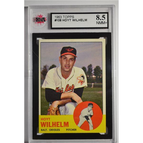 1963 Topps #108 Hoyt Wilhelm