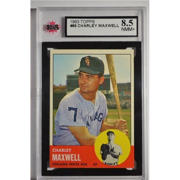 1963 Topps #86 Charley Maxwell