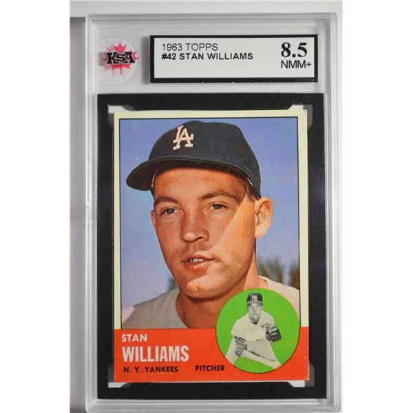 1963 Topps #42 Stan Williams/Listed as a Yankee, but wearing an LA cap