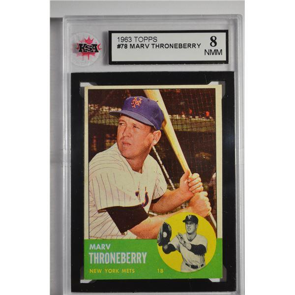 1963 Topps #78 Marv Throneberry