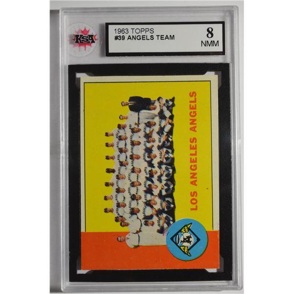 1963 Topps #39 Los Angeles Angels TC