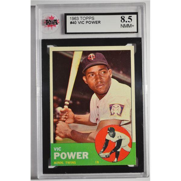 1963 Topps #40 Vic Power