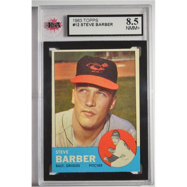 1963 Topps #12 Steve Barber