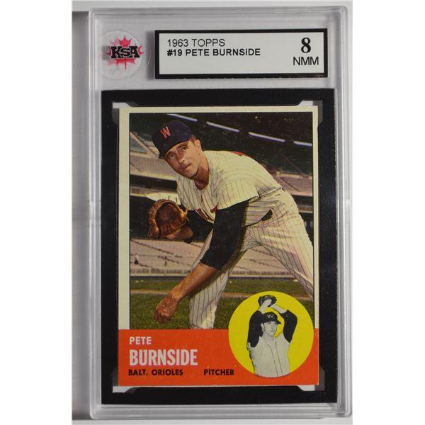 1963 Topps #19 Pete Burnside