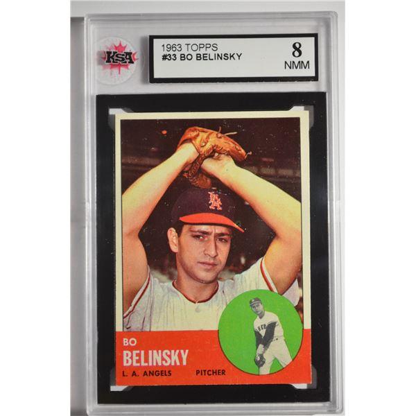 1963 Topps #33 Bo Belinsky
