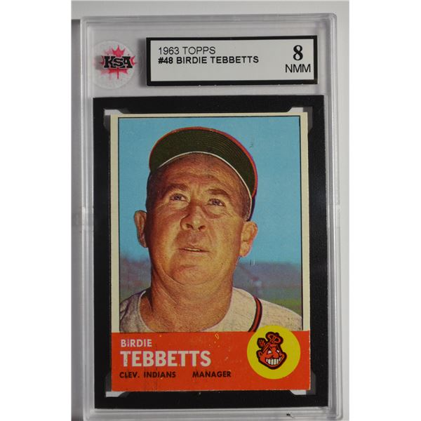 1963 Topps #48 Birdie Tebbetts MG