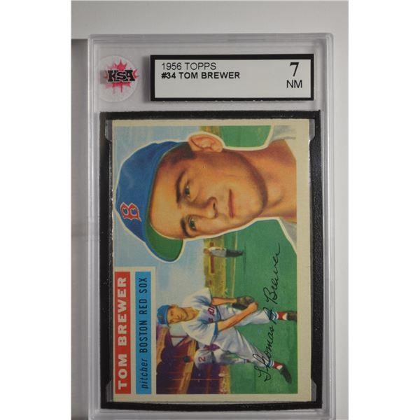 1956 Topps #34 Tom Brewer DP