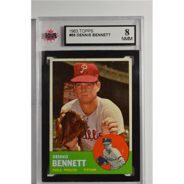 1963 Topps #56 Dennis Bennett ROOKIE