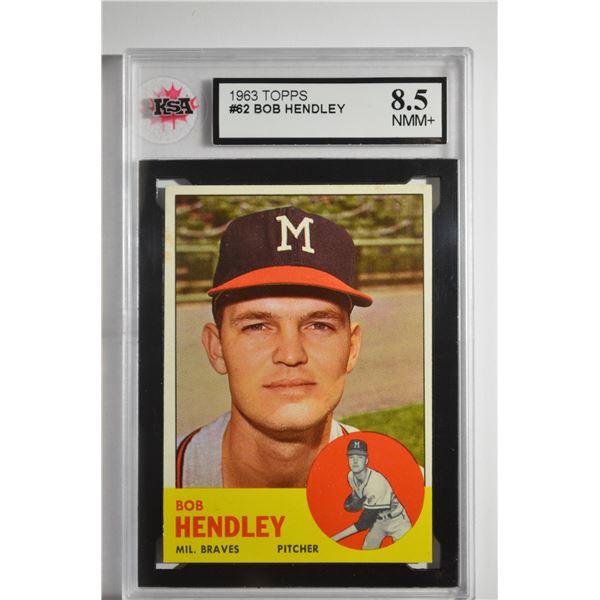 1963 Topps #62 Bob Hendley